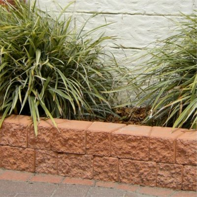 Lends itself easily to the creation of small garden retainer walls