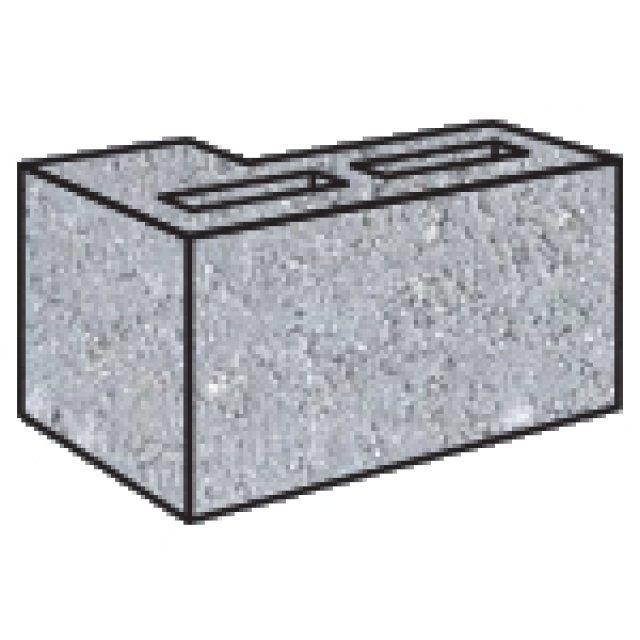 Grey Block 15.25 L Corner Return