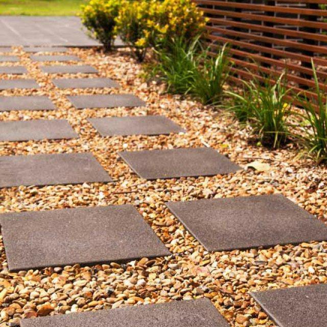 Adbri Euro Stone Prague Pavers used as outdoor pathways
