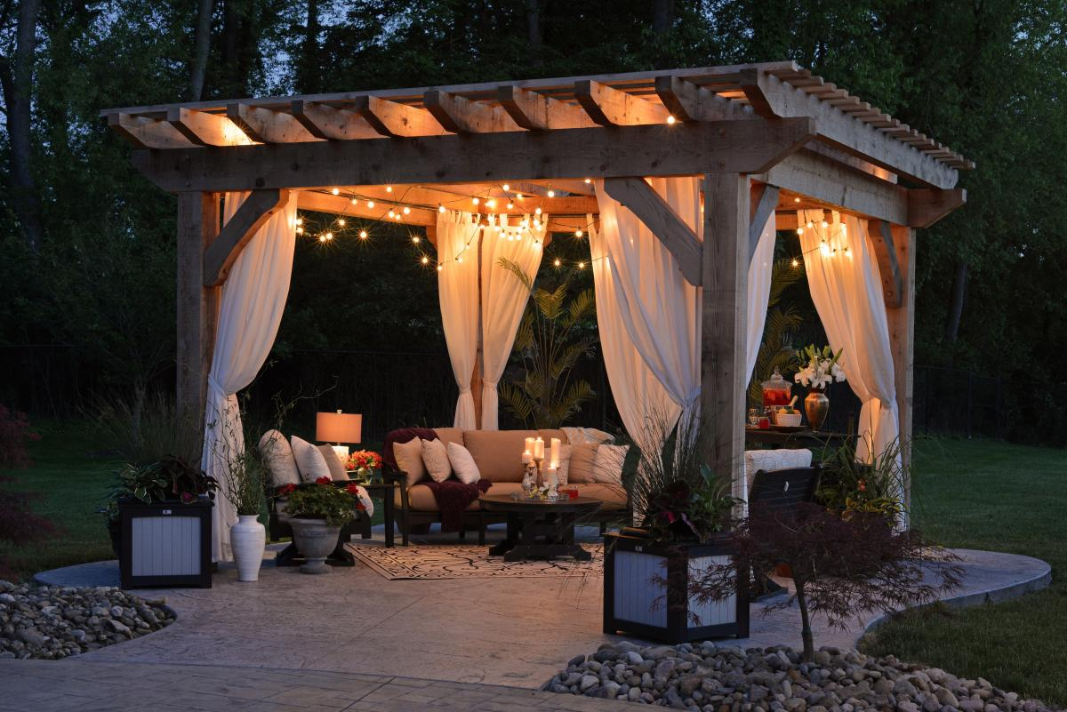 Spring Garden Ideas - Curtains and Night Lights